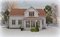 Den Vita Drömgården: Sveriges Charmigaste hem skal bli snyggt på utsidan Cottage Exterior, Exterior House Colors, Nordic Home, Scandinavian Home, Red Roof House, Home Focus, Swedish Cottage, Cosy House, Home Exterior Makeover