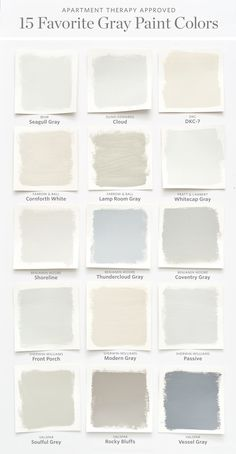 Color Cheat Sheet The 15 Most Perfect Gray Paint Colors Modern Palette Grey
