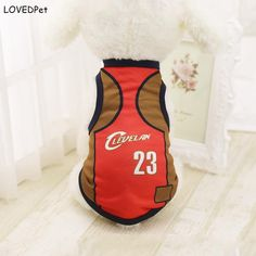 2017 Summer Dog Clothes Pets Coat Puppy Dogs Clothing T-shirts nbaed Sport Pet Vest cloth basketball jersey cloth Wholesale
