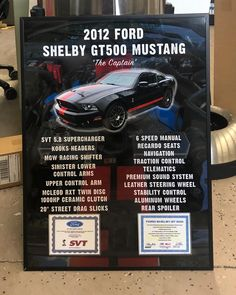 Just sent out this #carshowboard for a #ford #shelbygt500! Get one for your car at showcarsign.com #shelbymustang #fordsvt #svtmustang #gt500 #mustang #fordmustang #svtracing #fordracing