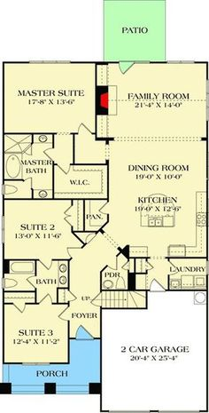Charming Craftsman Cottage - 17677LV floor plan - Main Level