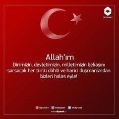Allah'ım ! Dinimizin, devletimizin, milletimizin bekasını sarsacak her türlü dâhili ve harici düşmanlardan bizleri halas eyle! (amin) TRT Diyanet