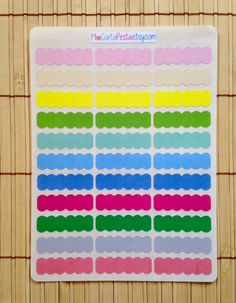 S128 33 Color Scallop Task Box Planner Stickers by MioCartaPesta