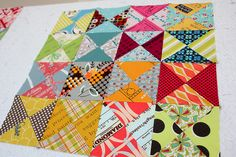 Spin Spin by badskirt - amy, via Flickr: really fun scrappy hourglass blocks