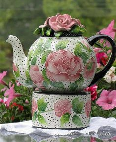 Pretty Teapot With Warmer. . .   #tea_time