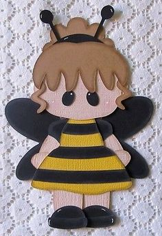 TPHH - Girl Bumble Bee Paper Piecing for Scrapbook Pages
