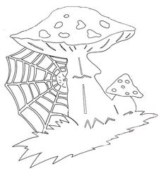 Champignons Paper Cutting Patterns, Stencil Patterns, Kirigami, Mushroom Crafts, Chinese Paper Cutting, Diy And Crafts, Paper Crafts, 3d Sheets, Scrapbook Templates