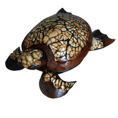 Hand-carved 8-inch Wooden Sea Turtle Figurine (Indonesia) | Overstock.com Shopping - Great Deals on Accent Pieces