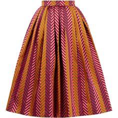 House Of Holland Jacquard Midi Skirt (725 MYR) ❤ liked on Polyvore featuring skirts, orange, mid calf skirts, high-waist skirt, knee length a line skirt, orange skirt and high-waisted midi skirts
