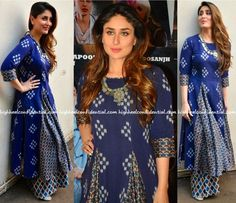 Kareena Kapoor Wears Label Anushree To 'Udta Punjab' Pakistani Dresses, Indian Dresses, Indian Outfits, Indian Attire, Indian Wear, Kurta Designs, Blouse Designs, Ethnic Fashion, Indian Fashion