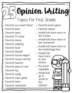 Teach Your Child to Read Teaching opinion writing can be a lot of fun in First Grade. Firsties have LOTS of opinions, and they love to share them! Give Your Child a Head Start, and.Pave the Way for a Bright, Successful Future. Opinion Writing Topics, Writing Lessons, Writing Skills, Opinion Writing Second Grade, Essay Topics, First Grade Writing Prompts, Opinion Essay, Kindergarten Writing Prompts, Writing Workshop