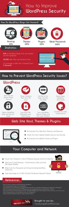 Keep the Hackers at Bay! How to Improve WordPress Security #Infographic