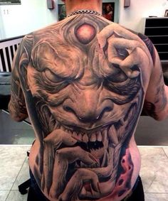 Check out our Demon Tattoos Picture Gallery. Loads of Demon Tattoos for you to get great tattoo ideas or just browse our Demon Tattoo Pictures and enjoy. Cool Back Tattoos, Creepy Tattoos, Back Tattoos For Guys, 3d Tattoos, Badass Tattoos, Skull Tattoos, Lower Back Tattoos, Body Art Tattoos, Tatuajes Tattoos