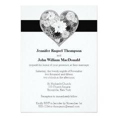 wedding_black_and_white_floral_heart_invitation-r804dafebe634495785e8fe0b3d999308_zk9c4_495.jpg (495×495)