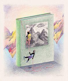 "Baptiste Alchourroun illustrating ""Creative Writing"" for Les Inrocks"