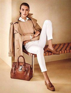 White and neutral and trench