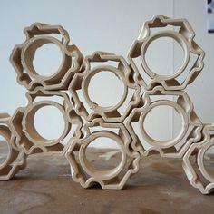 3D printed ceramic building elements - ELstudio  #3dprinting #digitalcraft #clay #digitalceramics #covepark