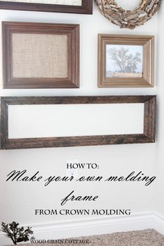 DIY Wall Art: Make a Frame from Crown Moulding by The Wood Grain Cottage