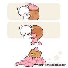 Cute Cartoon Images, Cute Couple Cartoon, Cute Cartoon Wallpapers, Cute Bear Drawings, Cute Cartoon Drawings, Cute Love Pictures, Cute Love Gif, Calin Gif, Gif Mignon