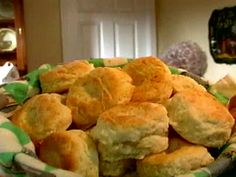Easy-to-follow Southern Biscuits recipe from Alton Brown. Make sure to cut biscuits at 1 inch thick so they rise tall and don't turn out flat.
