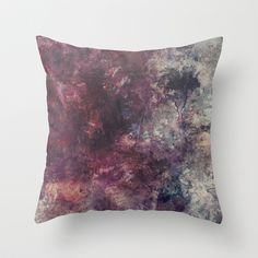 acrylic grunge Throw Pillow by VanessaGF - $20.00 #acrylic #grunge  #watercolors #purple #paint #splashes #mixedmedia #painting #pillow #throwpillow #homedecor
