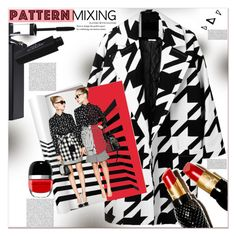 """Head -to- Toe Pattern Mixing"" by dragananovcic ❤ liked on Polyvore featuring Christian Louboutin, Nika, Gucci, Revlon, PBteen and Marc Jacobs"