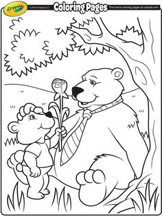 Daddy Bear coloring page