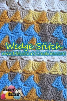 Here you can Learn how to Crochet with the Wedge Stitch By Meladora's Creations Free Crochet Patterns and Video Tutorials.
