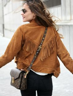Suede Fringe Jacket by ladyaddict − STYLIGHT