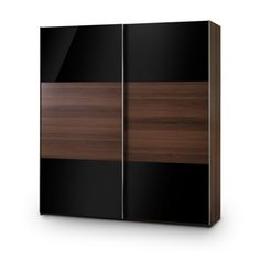 julian bowen bergen sliding door wardrobe in black and brown - Designs For Wardrobes In Bedrooms