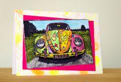 Card by Robyn Wood using Darkroom Door VW Beetle Photo Stamp