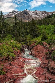 Red Rock Canyon in Waterton Lakes National Park, Alberta, Canada