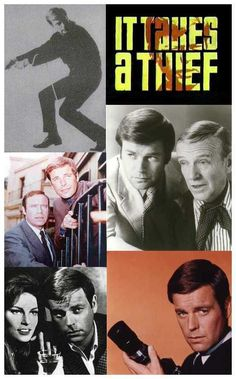 It Takes a Thief was an American television series that aired on ABC between… Spy Shows, Old Tv Shows, Childhood Tv Shows, In Memory Of Dad, Tv Show Games, Star Trek Movies, Star Show, Tv Land, Vintage Tv