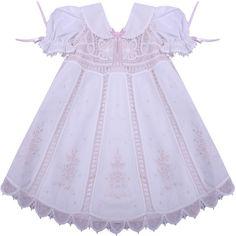 Vestido Renda Renascença Rosa - 1 ano