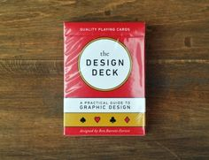 Learn graphic design while playing poker!  The Design Deck is a deck of playing cards that doubles as a practical guide to graphic design.  Each of the 52 faces contains a useful piece of information about graphic design, including typography, colour theory, design techniques, history, and more, each with a beautiful visual example.  Printed in rich, full colour on high-quality Bicycle® stock with air-cushion finish.