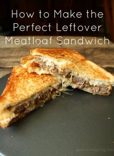 Let's be honest for a minute. We actually like the leftover meatloaf sandwich more than the meatloaf dinner itself. A slice of meatloaf between two ...