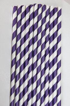 Purple Striped straws will add pizzaz to any ordinary drink! #SolaveiBash
