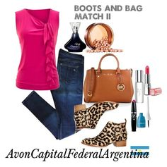 """Boots and bag match II"" by avon-capital-federal-argentina ❤ liked on Polyvore featuring rag & bone, MICHAEL Michael Kors, Jeffrey Campbell and Avon"