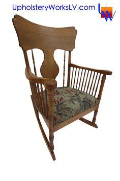 Reupholstered Vintage Chair By Upholstery Works In Las Vegas  Http://UpholsteryWorksLV.com