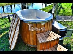 Ofuro hot tub with fiberglass lining for sale - TimberIN