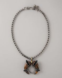Double-Horn Necklace by Lanvin at Bergdorf Goodman.