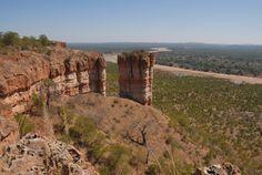 Gonarezhou National Park, Zimbabwe.  Chilojo cliffs.
