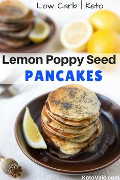 Lemon Poppy Seed Keto Pancakes Low Carb Recipe