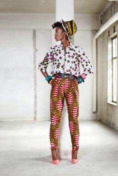 Le pantalon en pagne | Pagnifik Vlisco Funky Groovy