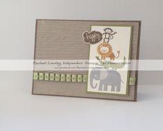Zoo Babies, Best Of Greetings, Woodgrain Embossing Folder kids birthday card