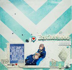 #papercraft #scrapbook #layout   Brotherhood by MonaLisa at @Studio_Calico