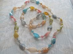 Necklace Bracelet Earring Set Summer Multicolor 6 by cynhumphrey, $36.00