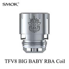 Electronic Cigarette Cores SMOK TFV8 BIG BABY RBA Coil Stick V8 Atomizer Core G150 G320 G-Priv H-Priv GX2/4 T-Priv RBA Coil S039 #Affiliate