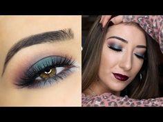 Green Smokey Fall Makeup Tutorial | Makeup Geek Cosmetics Duochrome Collection - YouTube