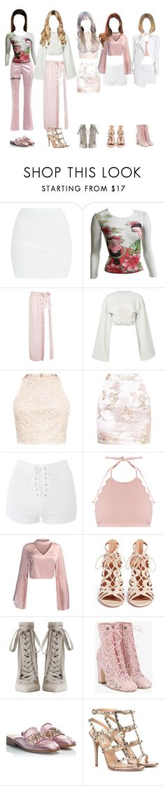 """""""first tour no.2"""" by taekook-junghyung ❤ liked on Polyvore featuring Dilara Findikoglu, Kenzo, Boohoo, Y/Project, Topshop, Marysia Swim, WithChic, Alexandre Vauthier, Aquazzura and Zimmermann"""